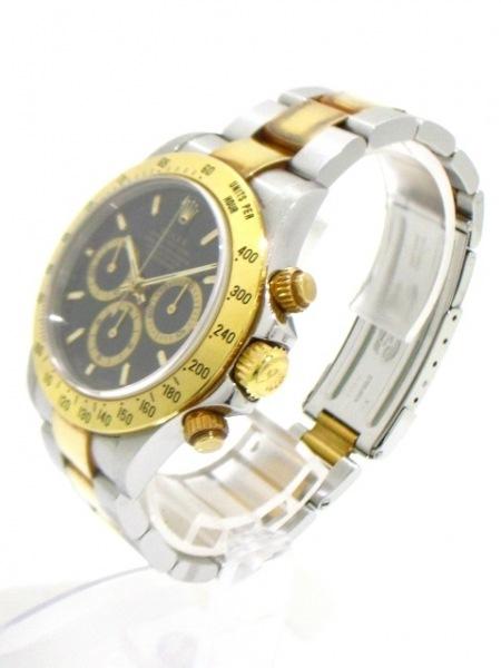 ロレックス 腕時計 デイトナ 16523 メンズ SS×K18YG/13コマ 黒 2