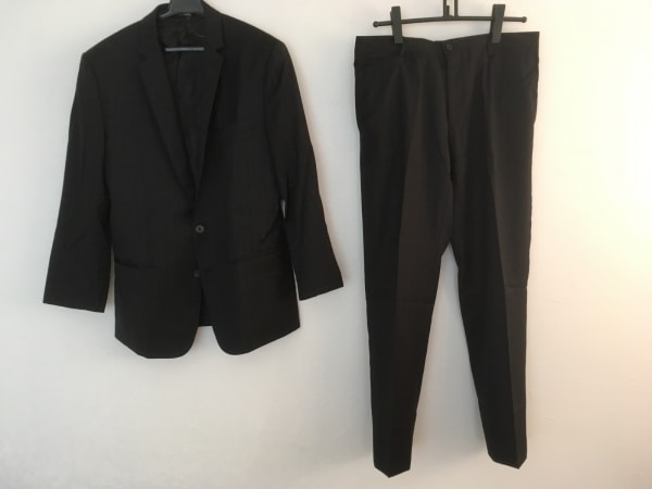ドルチェアンドガッバーナ シングルスーツ メンズ 黒×グレー 0