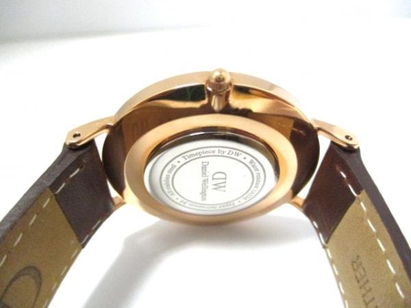 ダニエルウェリントン 腕時計美品  - レディース 革ベルト 白 3
