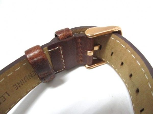ダニエルウェリントン 腕時計美品  - レディース 革ベルト 白 4
