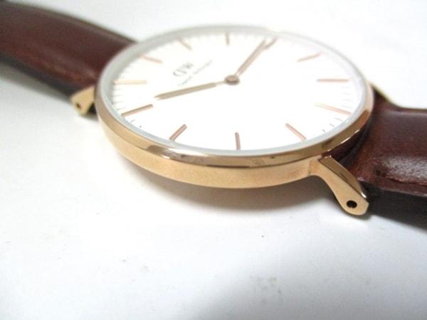ダニエルウェリントン 腕時計美品  - レディース 革ベルト 白 8