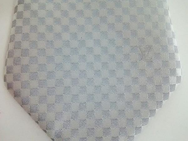 ルイヴィトン ネクタイ メンズ美品  クラヴァット・プティ ダミエ 5