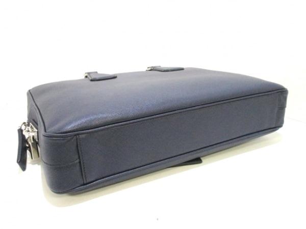 PRADA(プラダ) ビジネスバッグ美品  - VS0363 ネイビー レザー 4