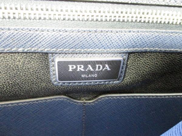PRADA(プラダ) ビジネスバッグ美品  - VS0363 ネイビー レザー 6