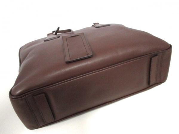 PRADA(プラダ) ビジネスバッグ美品  - VS0305 ダークブラウン レザー 4