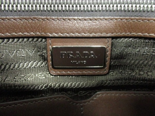 PRADA(プラダ) ビジネスバッグ美品  - VS0305 ダークブラウン レザー 6