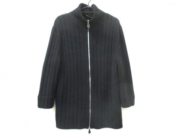 HERMES(エルメス) 長袖セーター サイズL メンズ 黒 ジップアップ 0