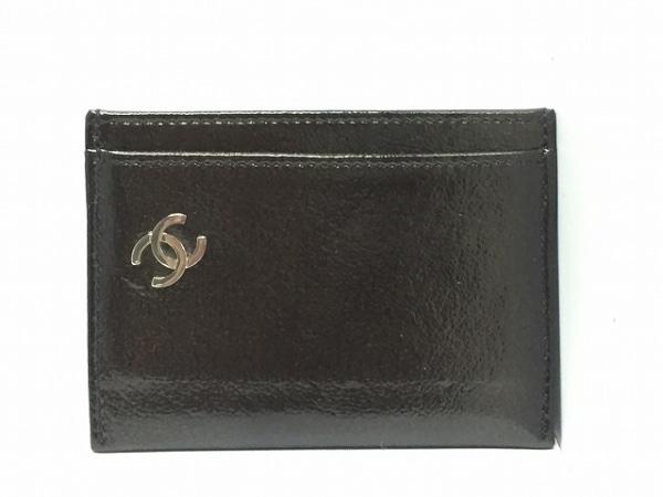 CHANEL(シャネル) カードケース美品  - 黒×シルバー シルバー金具 0
