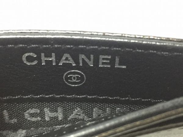 CHANEL(シャネル) カードケース美品  - 黒×シルバー シルバー金具 3