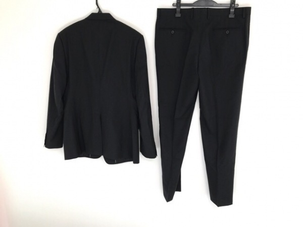 ドルチェアンドガッバーナ シングルスーツ メンズ 黒 ストライプ 2