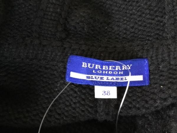 バーバリーブルーレーベル ポンチョ サイズ38 M レディース美品  黒 3