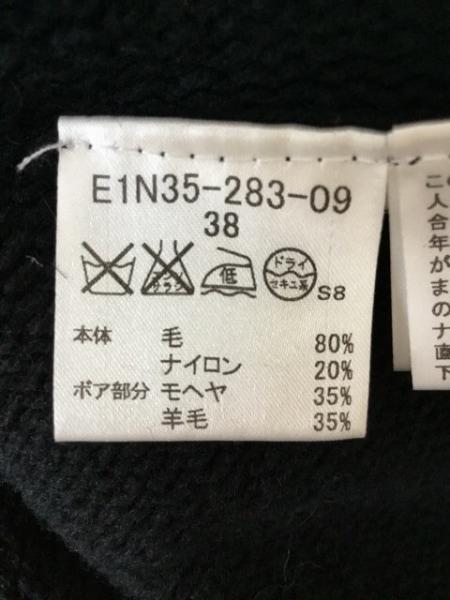 バーバリーブルーレーベル ポンチョ サイズ38 M レディース美品  黒 4