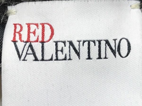 R.E.D VALENTINO(バレンチノ) ポンチョ レディース 黒×ライトグレー 3