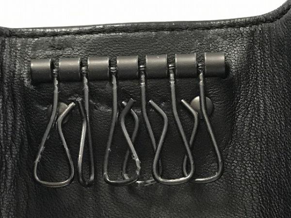 ボッテガヴェネタ キーケース イントレチャート 黒 6連フック レザー 5