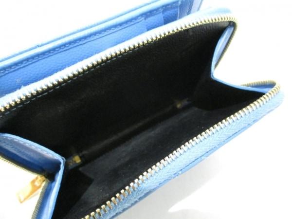 サンローランパリ 2つ折り財布 403723 ライトブルー レザー 4