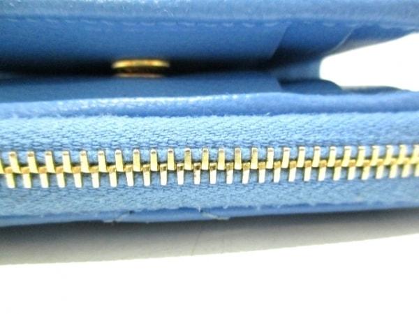 サンローランパリ 2つ折り財布 403723 ライトブルー レザー 6