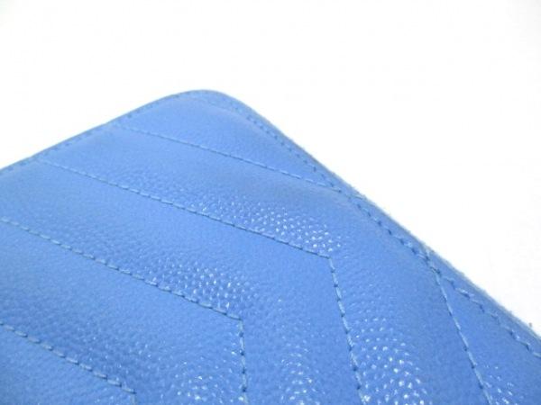 サンローランパリ 2つ折り財布 403723 ライトブルー レザー 8