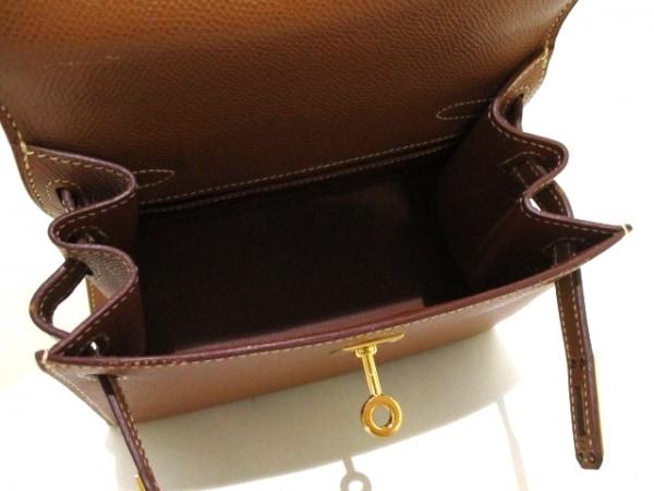 エルメス ハンドバッグ ミニケリー ゴールド ゴールド金具/外縫い 2