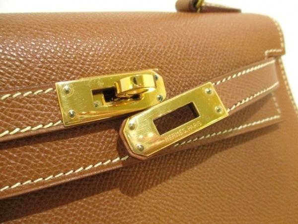 エルメス ハンドバッグ ミニケリー ゴールド ゴールド金具/外縫い 3