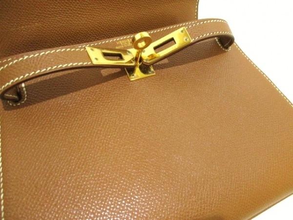 エルメス ハンドバッグ ミニケリー ゴールド ゴールド金具/外縫い 7