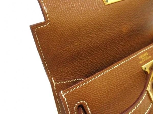 エルメス ハンドバッグ ミニケリー ゴールド ゴールド金具/外縫い 8