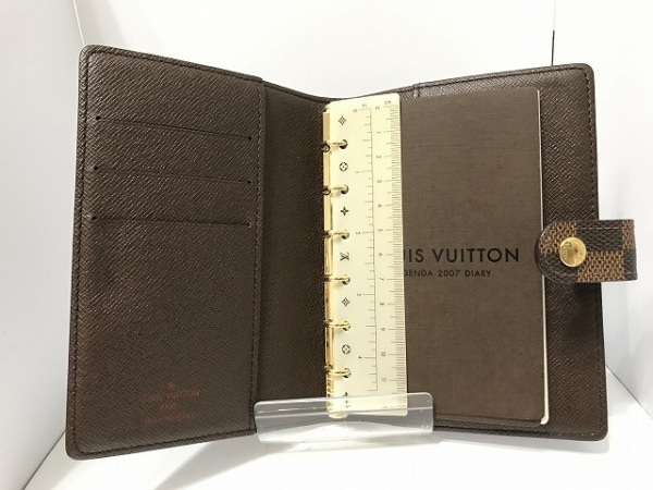 ルイヴィトン 手帳 ダミエ美品  アジェンダPM R20700 エベヌ 3