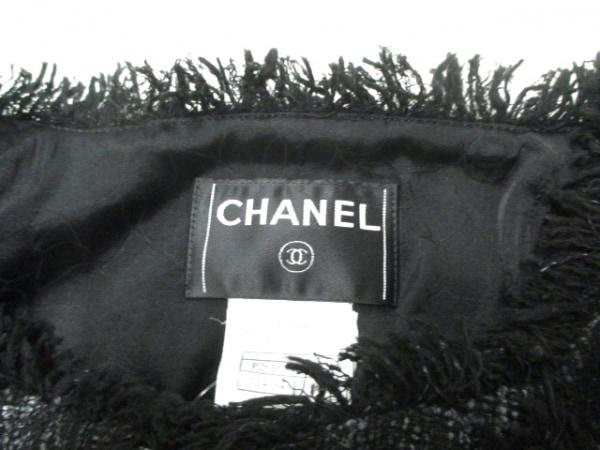 シャネル ジャケット サイズ36 S レディース 黒×グレー ツイード 3