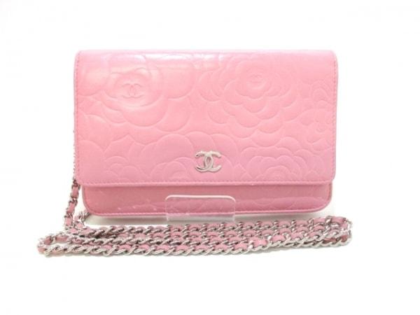 CHANEL(シャネル) 財布美品  カメリア A47421 ピンク ラムスキン 0