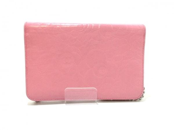 CHANEL(シャネル) 財布美品  カメリア A47421 ピンク ラムスキン 2