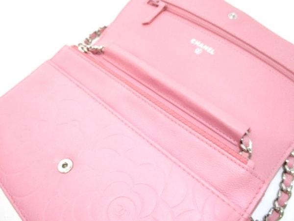 CHANEL(シャネル) 財布美品  カメリア A47421 ピンク ラムスキン 3