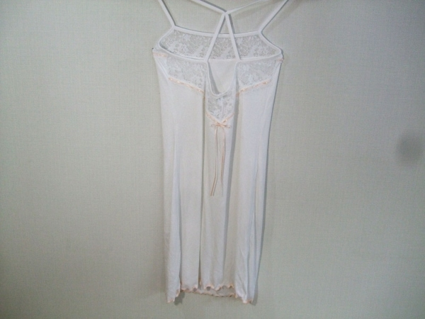 ラペルラ ホルターネックキャミソール レディース美品  白×ベージュ 0