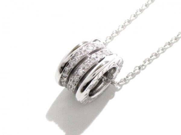 ブルガリ ネックレス新品同様  B-zero1 K18WG×ダイヤモンド 旧型 0