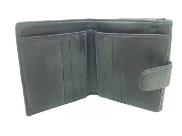 CHANEL(シャネル) Wホック財布 キャビアスキン 黒 キャビアスキン 3