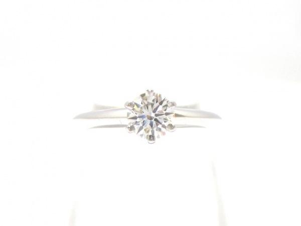 ティファニー リング美品  ソリティアダイヤモンドリング 0