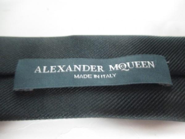 アレキサンダーマックイーン ネクタイ メンズ美品  黒×ベージュ 3