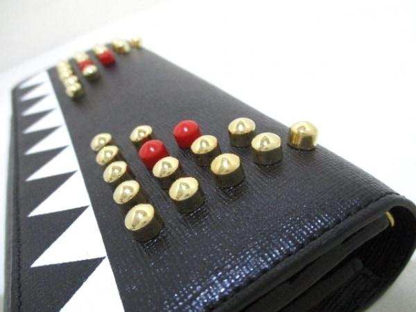 FENDI(フェンディ) 財布美品  - 8M0365 黒×白×マルチ レザー 6