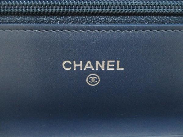 シャネル 財布美品  キャビアスキン A48654 ネイビー キャビアスキン 5
