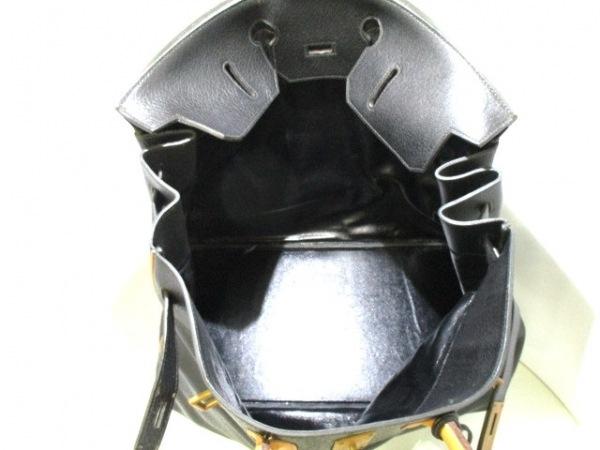 HERMES(エルメス) ボストンバッグ オータクロア50 黒×ナチュラル 2