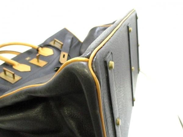 HERMES(エルメス) ボストンバッグ オータクロア50 黒×ナチュラル 6