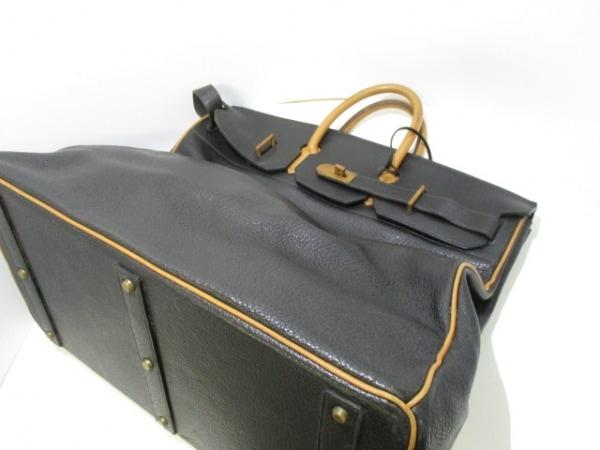 HERMES(エルメス) ボストンバッグ オータクロア50 黒×ナチュラル 8