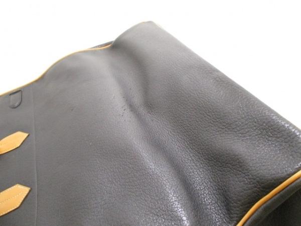 HERMES(エルメス) ボストンバッグ オータクロア50 黒×ナチュラル 9
