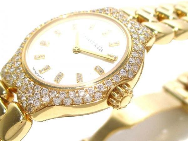 ティファニー 腕時計美品  ティソロ L0133 レディース 白 8