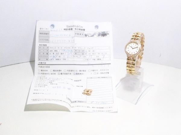 ティファニー 腕時計美品  ティソロ L0133 レディース 白 9