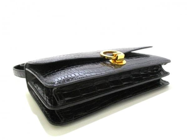 HERMES(エルメス) ショルダーバッグ リングドゥ 黒 ゴールド金具 4