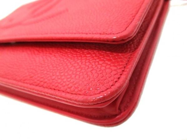 シャネル 財布 キャビアスキン A48654 レッド キャビアスキン 7