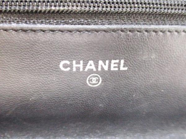 シャネル 財布 カメリア A47421 黒 シルバー金具/チェーンウォレット 5