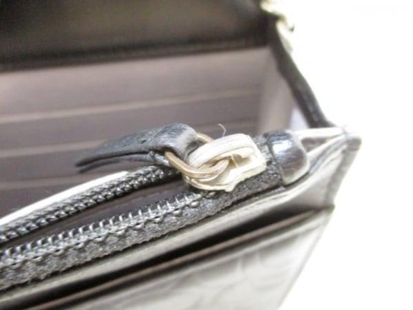 シャネル 財布 カメリア A47421 黒 シルバー金具/チェーンウォレット 6