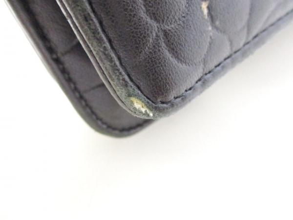 シャネル 財布 カメリア A47421 黒 シルバー金具/チェーンウォレット 7
