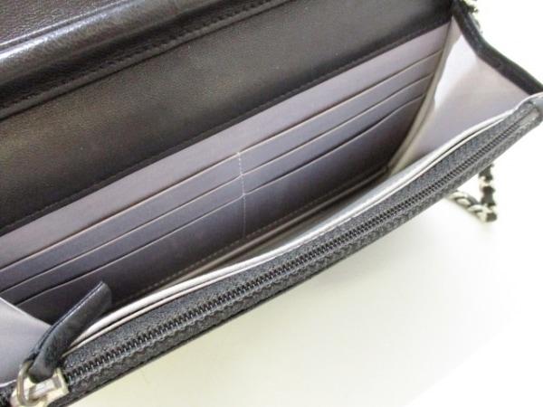 シャネル 財布 カメリア A47421 黒 シルバー金具/チェーンウォレット 8