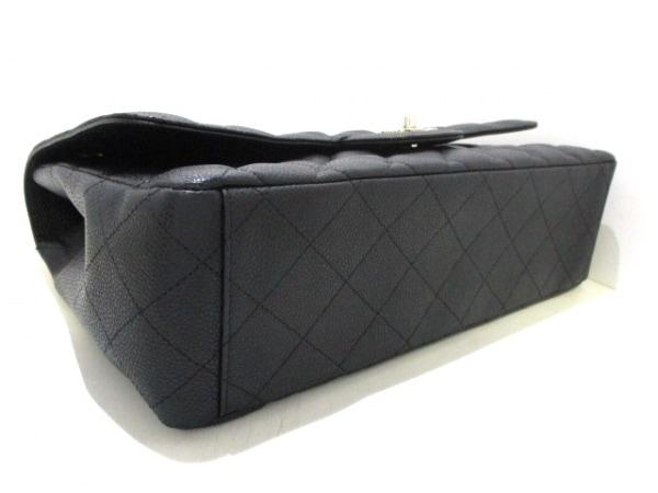 シャネル ショルダーバッグ美品  デカマトラッセ 黒 キャビアスキン 4